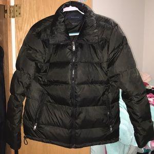Zara man puffer black coat